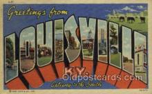 LLT002067 - Louisville Kentucky USA Large Letter Town Views Old Vintage Postcard Post Cards