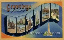 LLT002081 - Boston Mass USA Large Letter Town Views Old Vintage Postcard Post Cards