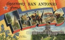 LLT002086 - San Antonio Texas USA Large Letter Town Views Old Vintage Postcard Post Cards