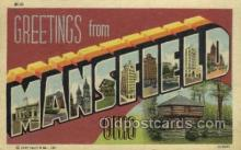 LLT002087 - Mansfield Ohio USA Large Letter Town Views Old Vintage Postcard Post Cards