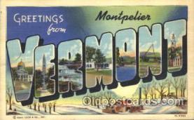 LLT100009 - Vermont, USA Large Letter Town, Towns, Postcard Postcards