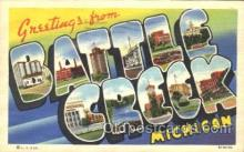 LLT100011 - Battle Creek, Michigan, USA Large Letter Town, Towns, Postcard Postcards