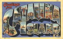 LLT100018 - Catalina Island, USA Large Letter Town, Towns, Postcard Postcards