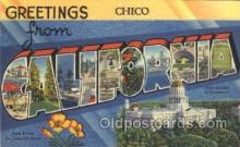 LLT100019 - California, USA Large Letter Town, Towns, Postcard Postcards