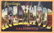 LLT100020 - Hollywood, California, USA Large Letter Town, Towns, Postcard Postcards
