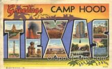LLT100021 - Camp Hood, Texas, USA Large Letter Town, Towns, Postcard Postcards