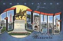 LLT100023 - St. Louis, USA Large Letter Town, Towns, Postcard Postcards