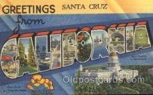LLT100027 - California, USA Large Letter Town, Towns, Postcard Postcards