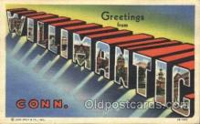 LLT100029 - Willimantic, Conn, USA Large Letter Town, Towns, Postcard Postcards