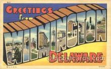 LLT100031 - Wilmington, Delaware, USA Large Letter Town, Towns, Postcard Postcards