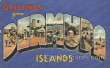 LLT100032 - Bermuda Island, Usa Large Letter Town, Towns, Postcard Postcards