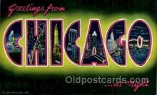 LLT100033 - Chicago, Usa Large Letter Town, Towns, Postcard Postcards
