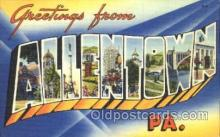 LLT100035 - Allentown,  Pa., Usa Large Letter Town, Towns, Postcard Postcards