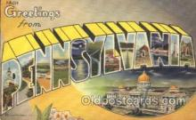 LLT100038 - Pennsylvania, USA Large Letter Town, Towns, Postcard Postcards