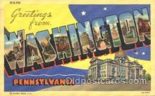 LLT100042 - Washington, Pennsylvania, USA Large Letter Town, Towns, Postcard Postcards