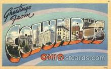 LLT100052 - Columbus, Ohio, Usa Large Letter Town, Towns, Postcard Postcards