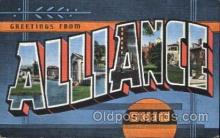 LLT100053 - Alliance, Ohio, usa Large Letter Town, Towns, Postcard Postcards