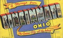 LLT100055 - Cincinnati, Ohio, Usa Large Letter Town, Towns, Postcard Postcards