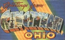 LLT100056 - Cincinnati, Ohio, Usa Large Letter Town, Towns, Postcard Postcards