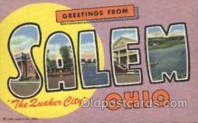 LLT100058 - Salum, Ohio, Usa Large Letter Town, Towns, Postcard Postcards