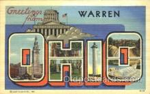 LLT100063 - Warren, Ohio, Usa Large Letter Town, Towns, Postcard Postcards