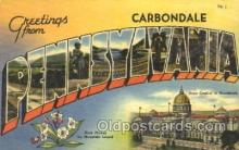 LLT100069 - Carbondale, Pennsylvania, Usa Large Letter Town, Towns, Postcard Postcards
