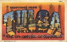 LLT100071 - Tulsa, Oklahoma, Usa Large Letter Town, Towns, Postcard Postcards