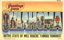 LLT100075 - Oklahoma, USA Large Letter Town, Towns, Postcard Postcards