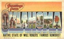 LLT100076 - Oklahoma, USA Large Letter Town, Towns, Postcard Postcards