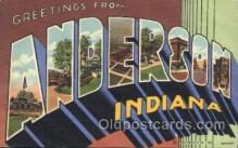 LLT100080 - Anderson, indiana, Usa Large Letter Town, Towns, Postcard Postcards