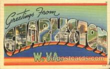 LLT100083 - Charleston, W.Va., Usa Large Letter Town, Towns, Postcard Postcards