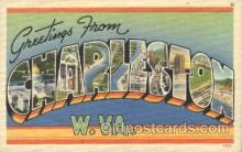 LLT100085 - Charleston, W.Va., Usa Large Letter Town, Towns, Postcard Postcards