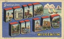 LLT100090 - Fond Du Lac, Wisconsin, Usa Large Letter Town, Towns, Postcard Postcards
