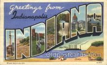 LLT100096 - Indianapolis, Indiana, USA Large Letter Town, Towns, Postcard Postcards