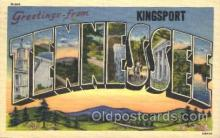 LLT100099 - Kingsport, Tennessee, USA Large Letter Town, Towns, Postcard Postcards