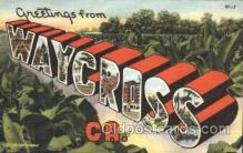 LLT100104 - Waycross, Ca, USA Large Letter Town, Towns, Postcard Postcards