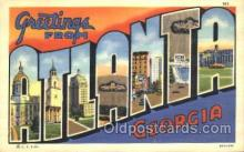 LLT100105 - Atlanta, Georgia, USA Large Letter Town, Towns, Postcard Postcards