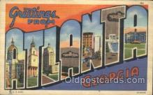 LLT100106 - Atlanta, Georgia, USA Large Letter Town, Towns, Postcard Postcards