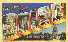 LLT100108 - Boise, Idaho, USA Large Letter Town, Towns, Postcard Postcards