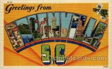 LLT1001103 - Greenville, South Carolina Large Letter Town Towns Post Cards Postcards