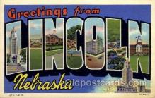 LLT1001104 - Lincoln, Nebraska Large Letter Town Towns Post Cards Postcards