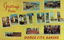 LLT1001107 - Boot Hill, Dodge City, Kansas Large Letter Town Towns Post Cards Postcards
