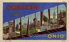LLT1001110 - Cleveland, Ohio Large Letter Town Towns Post Cards Postcards