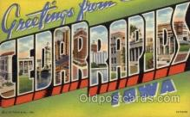 LLT1001113 - Cedar Rapids, Iowa Large Letter Town Towns Post Cards Postcards