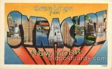 LLT1001117 - Syracuse, New York Large Letter Town Towns Post Cards Postcards