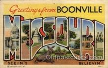 LLT1001118 - Boonville, Missouri Large Letter Town Towns Post Cards Postcards