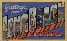 LLT1001122 - Long Beach, California Large Letter Town Towns Post Cards Postcards