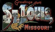 LLT1001125 - St. Louis, Missouri Large Letter Town Towns Post Cards Postcards