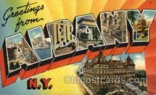 LLT1001128 - Albany, New York Large Letter Town Towns Post Cards Postcards