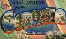 LLT1001132 - Athens, Georgia Large Letter Town Towns Post Cards Postcards
